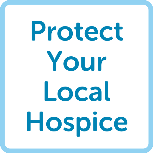 protect your local hospice button